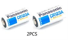 PANASONIC CR123A Lithium Batteries 3V Battery 2pcs Brand New Free & Fast Ship