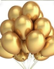 50 Piece Gold Metallic Balloons
