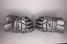 Reebox Griptonite Lacrosse Gloves Metallic/Silver/Black Size Men's Large 13.5