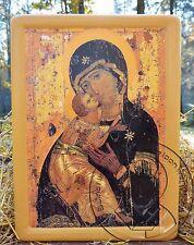 Virgin of VLADIMIR St Luke Mary Russian Orthodox Icon Byzantine Religious Art