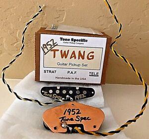 1952 Telecaster Twang Pickups by Tone Specific. Fits MJT Body & Fender Tele