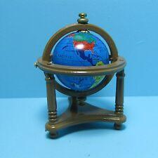 Dollhouse Miniature World Globe in Floor Stand in Walnut ~ T6332