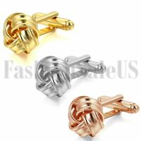 Gold Rose Gold Silver Tone Wedding Party Shirt Cuff Links Chinese Knot Cufflinks