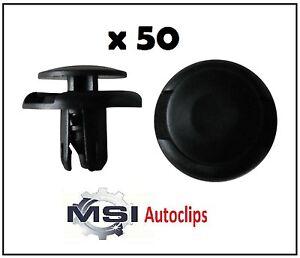 50x Plastic Mitsubishi Grill, Wheel Arch Lining, Splashguard & Bumper Trim Clips