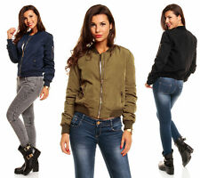 Damenjacken & -mäntel im Militärstil aus Polyester mit Reißverschluss