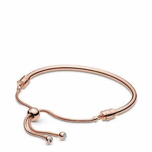 Bracelet PANDORA Roses Rigid Closing Adjustable 587953cz Rose Gold Bracelet