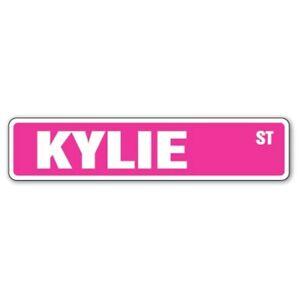 Kylie Street Sign Decal Vinyl Sticker for Mirror Laptop Indoor Outdoor Pink NEW