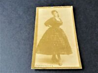 Antique G.W. Gail & Ax's Navy Tobacco Card with image of Actress Carmencita.