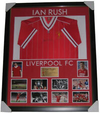 Ian Rush Signed Jersey Framed PHOTO PROOF 1984 EUROPEAN CUP FINAL