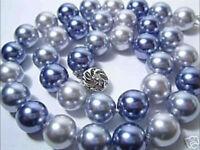 "12mm South Sea Multicolor shell pearl necklace 18"" JN780"