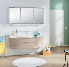 Puris Badmöbel VUELTA 03 > Eiche Sand >  Spiegelschrank Waschtisch 141 cm NEU