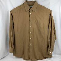 Ermenegildo Zegna Men's Button Up Shirt Size XL Orange Long Sleeve Soft Cotton
