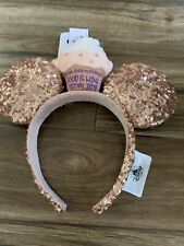 Disney Parks Minnie Mouse Ears Food and Wine Festival 2019 Sequined Headband Nwt