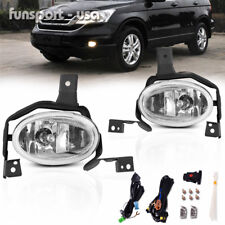 for 2010 2011 Honda CR-V CRV Clear Fog Lights Front Bumper Lamps w/Switch+Wiring