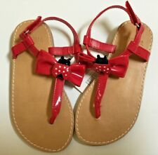 NWT Gymboree Girls Red Shoes Sandals With Ladybug Size 9