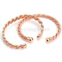 Women Men Copper Magnetic Bracelet Therapy Arthritis Pain Healing Cuff Bangle