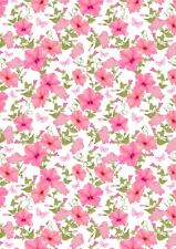 10 ASSORTED FLORAL BACKING PAPERS  FOR CARD AND SCRAPBOOK MAKING s17