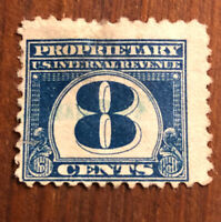 "STAMP US SCOTT RB70 ""Blue Numeral in Circle""  8 CENT Unused H 1919 CV $32"