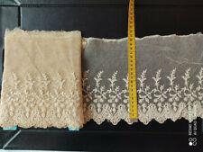 Dentelle ancienne coton 3 m x12 cm
