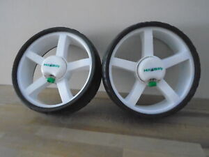 PRE~LOVED HILL BILLY TERRAIN WHEELS FOR ELECTRIC GOLF TROLLEY~ 1 PAIR
