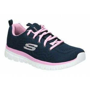 Skechers, Sneakers Memory Foam Navy/Pink, Graceful-get connected 12615/NVPK