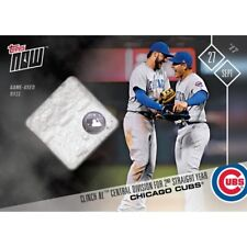 2017 TOPPS NOW #663A CHICAGO CUBS RELIC # /99 WIN NL CENTRAL 2ND STRAIGHT YEAR