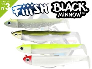 Fiiish Black Minnow 120 No3 Combo Shore Search Off Shore Bass Lure Fishing lrf
