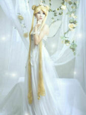Sailor Moon Princess Serenity Glamour Long Blonde Wavy Cosplay Party Full Wigs