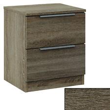 NACHTSCHRANK #786 Eiche dunkel STRUKTUR 2x Schublade Holz Nachttisch Schubladen