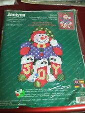 Janlynn Plastic Canvas Snowman Stockings Door Wall Hanging 140 211 18x12