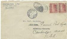 1923 NEWFOUNDLAND BUSINESS COVER FROM KNOWLING, LTD., ST. JOHN'S