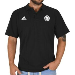 Adidas Men's Pique Polo Shirt Africa Cup Ess Clima New Black XL XXL XXXL