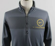 NEW Nike Livestrong 1/4 Zip Mock Neck Pullover Athletic Top MENS SMALL Gray