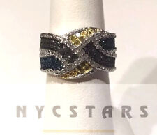 Multi Color Diamond (.55 Ct) Ring, 14k YG, WG, SS .925 Size 7 MSRP $1799