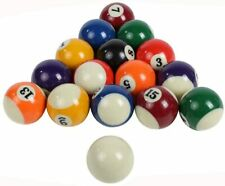 16 Pack Colorful Pool Table Billiard Balls Complete  Set Mini Size 1'' /25mm