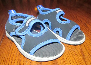 Baby Toddler Beach Pool Shoes Slippers Size S Small Speedo Blue Boy