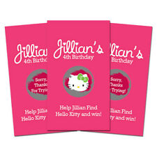 10 Hello Kitty Birthday Party Favor Personalized Scratch Off Games