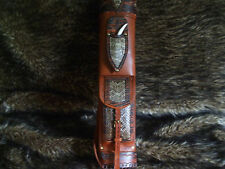 RATTLESNAKE  BROADHEAD KNIFE LEATHER BACK QUIVER/TRADITIONAL ARCHERY