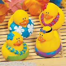 TROPICAL RUBBER DUCKS DUCKIES (LOT OF 12) Pool,Luau,Beach Party and Bath FUN