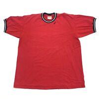 VTG 90s NIKE Red Multi Ringer Tee T-Shirt Men's Size L Large