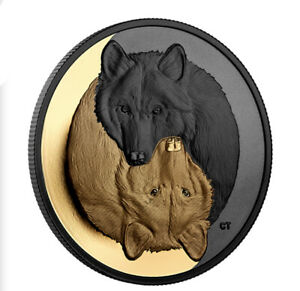1 oz. Silver Coin, Black and Gold, The Grey Wolf (2021)