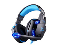 Led Easysmx Gaming Headphone Headset Stereo Noise Cancelling Mic Pc Lights 3 5mm