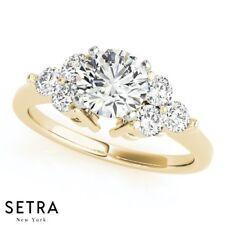 Cluster Sides Engagement Rings 14k Gold