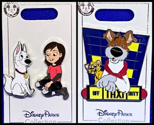 Disney Parks 3 Pin Lot Bolt & Penny + Oliver & Co. Taxi - NEW