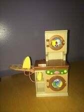 Laundry Washer Dryer Iron Ironing Board Fisher Price Loving Family Dollhouse Tan