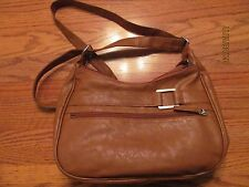 Light Brown/Dark Beige Double Zip, two strap hobo Purse~NEW w/Tags