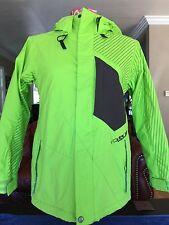 Volcom Snowboarding Jacket Youth M Medium 5000MM 7000GM2 for Boys Bright Green