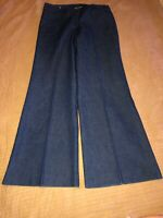 Larry Levine Stretch Pants Blue Jeans Size 10 Cotton Blend