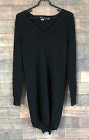 360 Sweater Cashmere Dress Tunic Split Back V-Neck Womens Size Small