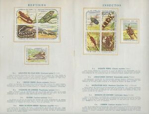 L5537 SPANISH ANTILLES CHRISTMAS 1962-63  REPTILES, INSECTS, MAMMALS